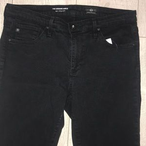 Ag Adriano Goldschmied Jeans - AG the legging ankle skinny size 29R raw hem jean